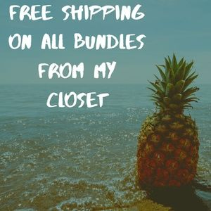 Free Shipping On All Bundles From my Closet